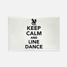 Keep calm and line dance Rectangle Magnet