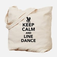 Keep calm and line dance Tote Bag