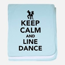 Keep calm and line dance baby blanket