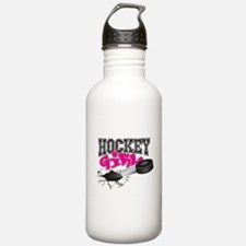 Hockey Girl Steel Water Bottle