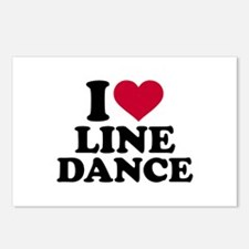 I love line dance Postcards (Package of 8)