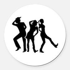Line dancing Round Car Magnet