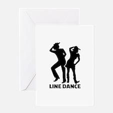 Line dance Greeting Card