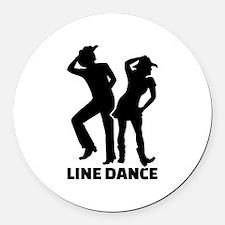 Line dance Round Car Magnet