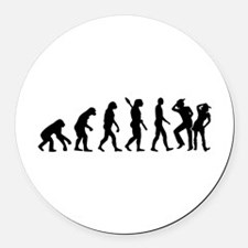 Evolution line dance Round Car Magnet