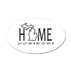 Michigan is My Home Coordinates Personalized Wall
