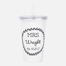 Mrs. Right Personalized Wedding Acrylic Double-wal