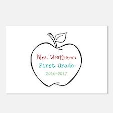 Colorized Custom Teachers Apple Postcards (Package