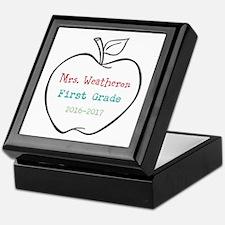 Colorized Custom Teachers Apple Keepsake Box