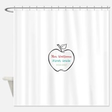 Colorized Custom Teachers Apple Shower Curtain