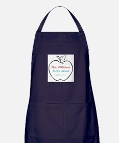 Colorized Custom Teachers Apple Apron (dark)