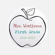 """Colorized Custom Teachers Apple 3.5"""" Button (100 p"""