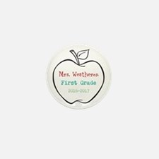 Colorized Custom Teachers Apple Mini Button (100 p