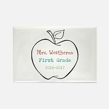 Colorized Custom Teachers Apple Magnets