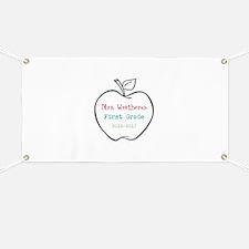 Colorized Custom Teachers Apple Banner