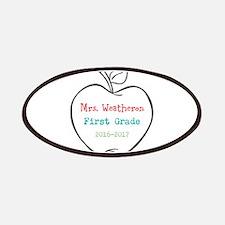 Colorized Custom Teachers Apple Patch