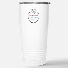 Colorized Custom Teachers Apple Travel Mug