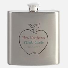 Colorized Custom Teachers Apple Flask