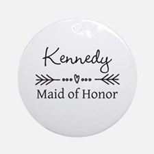 Bridal Party Personalized Round Ornament
