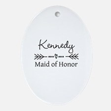 Bridal Party Personalized Oval Ornament