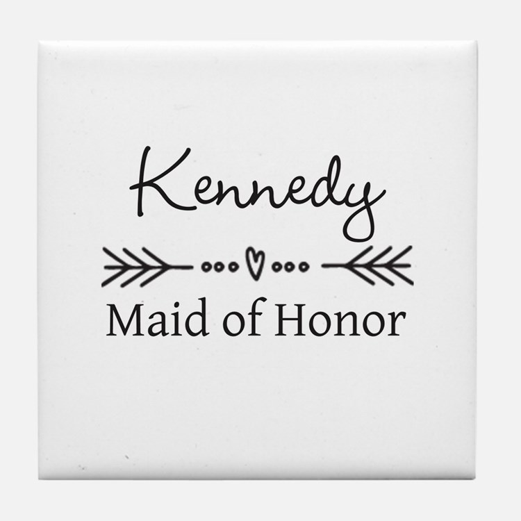 Bridal Party Personalized Tile Coaster