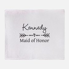 Bridal Party Personalized Throw Blanket