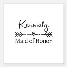 """Bridal Party Personalized Square Car Magnet 3"""" x 3"""
