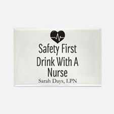 Drink with a Nurse Personalized Magnets
