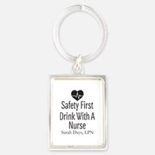 Drink with a Nurse Personalized Keychains