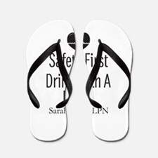 Drink with a Nurse Personalized Flip Flops