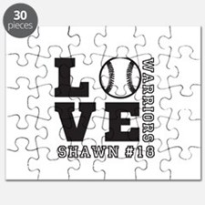 Baseball or Softball Personalized Team and Name Pu