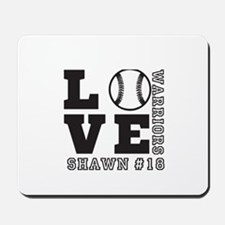 Baseball or Softball Personalized Team and Name Mo