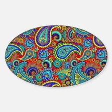 Colorful Retro Paisley Pattern Decal