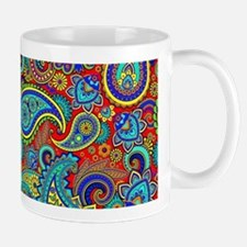 Colorful Retro Paisley Pattern Mugs