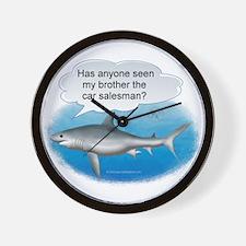 Auto Finance Shark Wall Clock