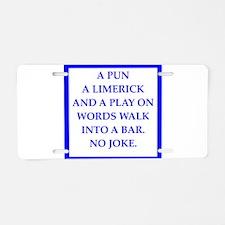 pun Aluminum License Plate