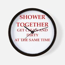 shower Wall Clock