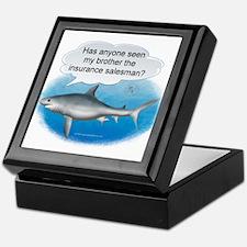 Insurance Salesman Shark Keepsake Box