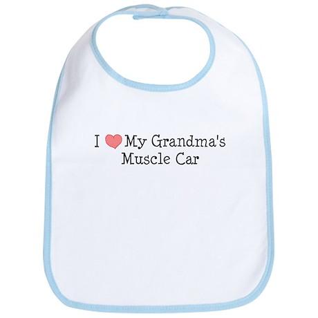 Love My Grandmas Muscle Car Bib