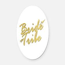 Unique Bridal party Oval Car Magnet