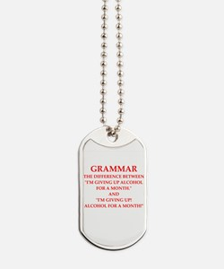 a funny joke Dog Tags