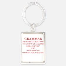 a funny joke Keychains
