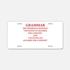 a funny joke Aluminum License Plate