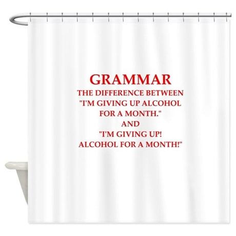 A funny joke shower curtain by zombietopia for Funny shower curtains