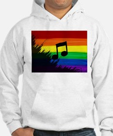 Musical note gay rainbow art Hoodie