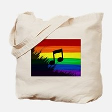 Musical note gay rainbow art Tote Bag