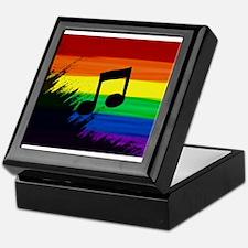 Musical note gay rainbow art Keepsake Box