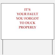 fault Yard Sign