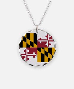 Maryland State Flag Necklace