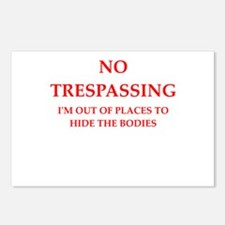 trespassing Postcards (Package of 8)